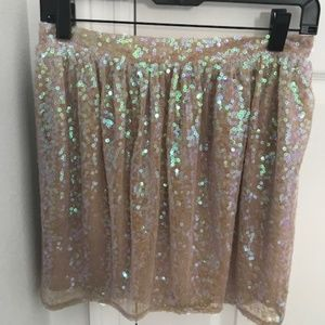 BCBG Generation Sequined Mini Skirt: Size 4 NTW